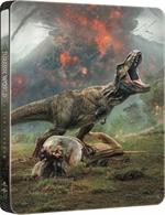 copertina film Jurassic World - Il regno distrutto (Blu-Ray Disc - SteelBook)