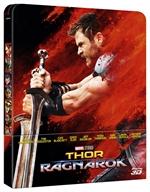 copertina film Thor - Ragnarok (Blu-Ray 3D + Blu-Ray Disc - SteelBook)