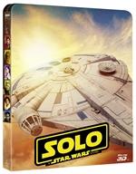 copertina film Solo - A Star Wars Story (Blu-Ray 3D + Blu-Ray Disc + Bonus Disc - SteelBook)